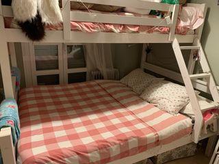 litera con cama de matrimonio