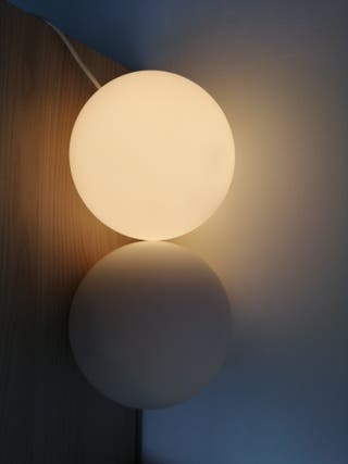 2 lámparas mesita