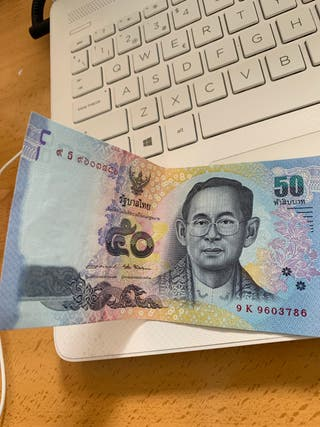 50 baths (moneda tailandesa)