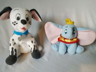 Dumbo y dálmata, blanditos. Disney.