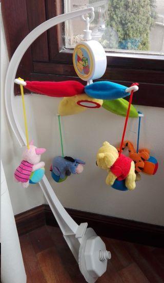 Móvil musical para cuna Winnie the Pooh y melodía