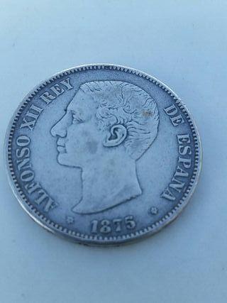 peseta Moneda ALFONSO XII 1875