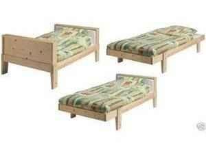 cama extensible de madera ikea vikare