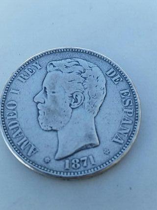 Moneda Amadeo 1 1801 plata