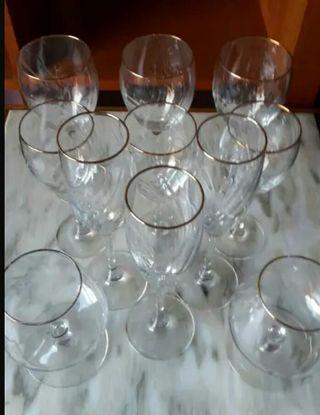 LJ lote copas cristal / REMATADO