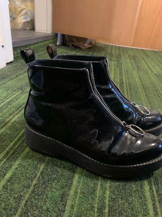 Boots varnished