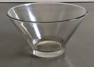 Gran ensaladera o tazón cónico en vidrio grueso