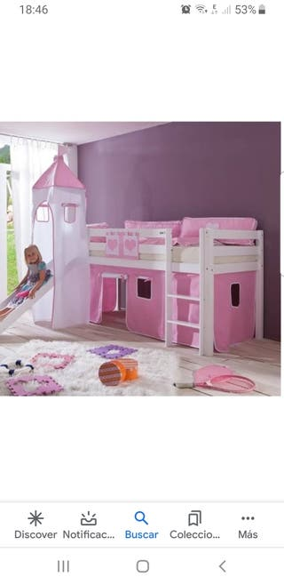 cama infantil princesa
