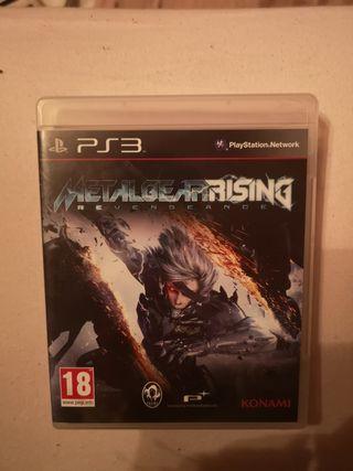 metal Gear rising ps3 como nuevo