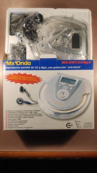 Reproductor portátil CD y MP3 a estrenar