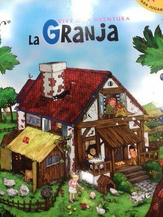 Libro para jugar Vive una aventura La granja
