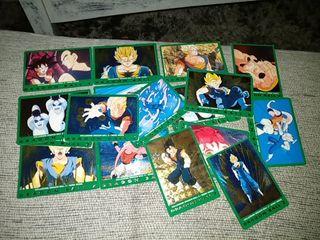 Lote cartas italianas serie verde dragón ball
