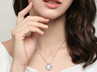 Collar de Plata de ley con Diamante para Mujer