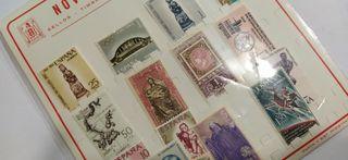 Lote de timbres antiguos