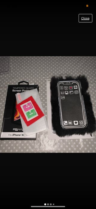Screen protector and iPhone X case