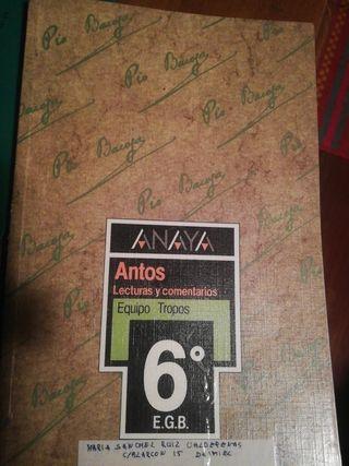 libro 6 primaria anaya