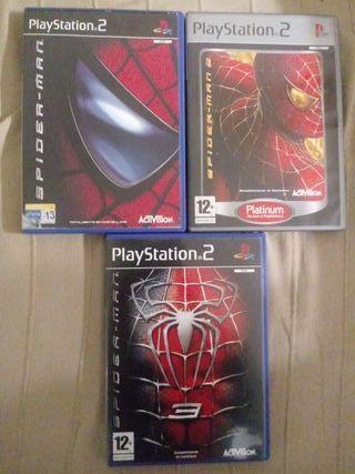 spiderman 1, 2 y 3 para playstation 2