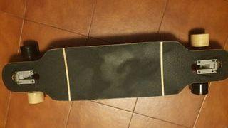 Monopatín long board Oxelo + Casco