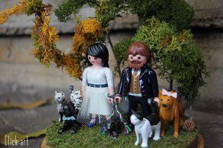 Playmobil Novios para tarta de boda y decoración