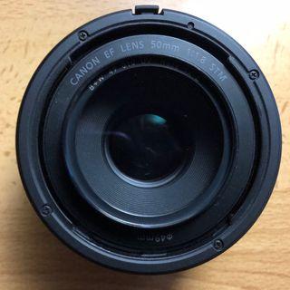 Objetivo Canon 50mm 1.8 STM + filtro + parasol