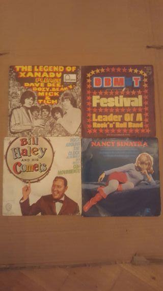 4 singles pop rock años 60