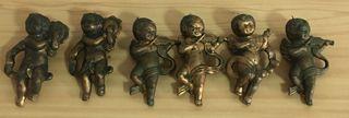 Angelitos de latón decorativos para colgar