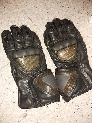 guantes moto de piel rainers talla L