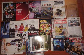 Pack de manuales originales PS1, PS2, PS3, NDS