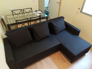 Sofá cama con almacenaje y chaiselonge