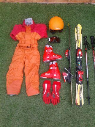 equipación esquí infantil