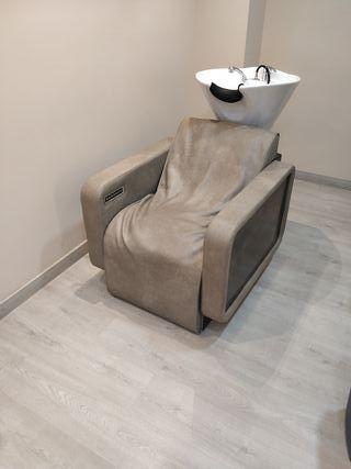 sillón lavacabezas de diseño con masaje aire
