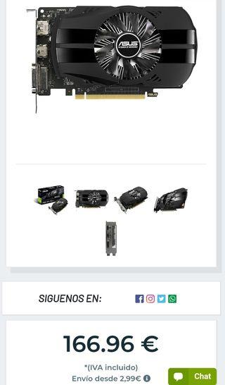 Tarjeta Gráfica Nvidia GTX 1050 2gb DDR5
