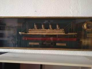 cuadro del Titanic en relieve