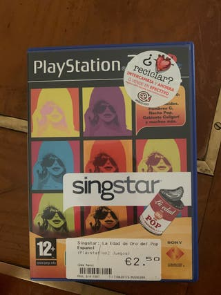 Varios Singstar play Station 2