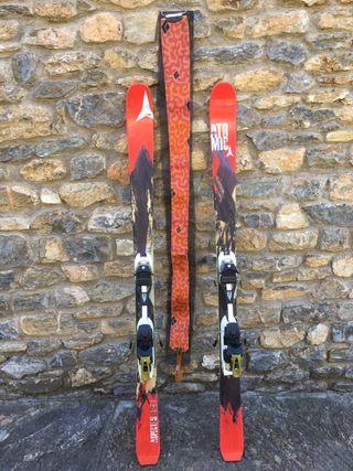 Esquís freeride + fijaciones + pieles + cuchillas