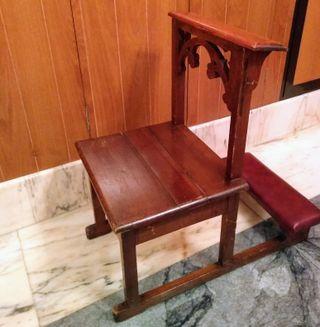 Silla antigua reclinatorio