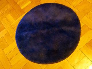 Alfombra de lana redonda Ikea Ringum azul 70 cm