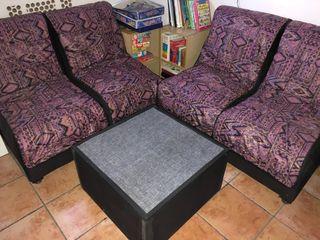 Sofa, sillones y mesa