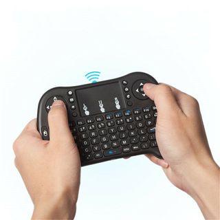 Mando teclado inalámbrico con panel tactil - ratón