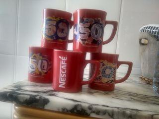 5 tazas 50 aniversario Nescafe