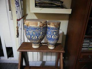 timbales de cerámica y piel buena