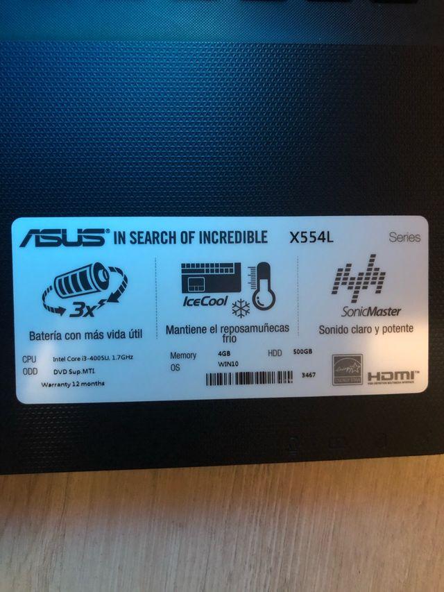 Portátil ASUS X554L SSD