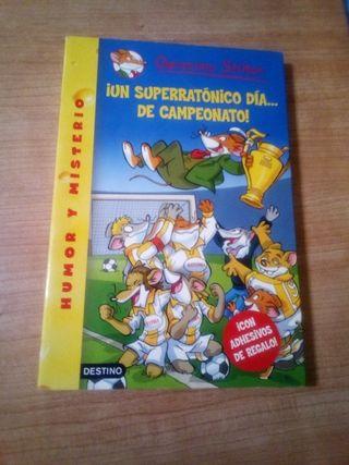 4 libros de la saga de Gerónimo Stilton