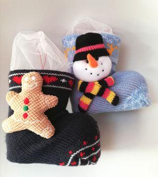 calcetines botas Navidad chuches