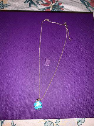 Collar TOUS Tanuca de plata vermeil y esmalte azul