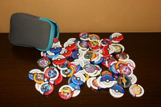 85 Tazos ,Pokemon, fichas coin, Battrio