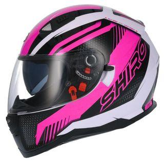 Casco integral Shiro SH-881 Motegi II Negro / Rosa