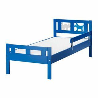 KRITTER estructura de cama con somier, azul