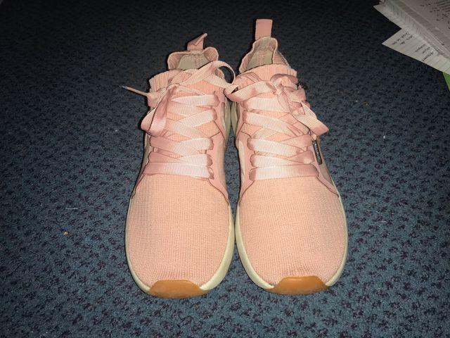 Stradivarius pink trainers
