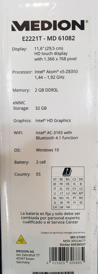 portatil MEDION